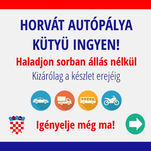 Horvát autópályán ENC-vel